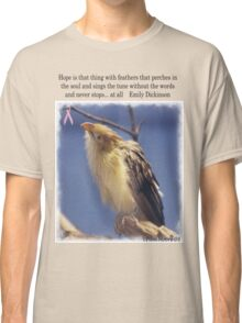 Baby Bird with Breast Cancer Awareness Ribbon Tee Classic T-Shirt