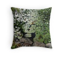Watelilly leaves Throw Pillow