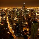 Chicago at Night by Adam Jacobs Photography