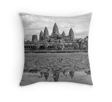 Angkor Reflections Throw Pillow
