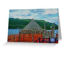 Loch Tay Crannog Greeting Card