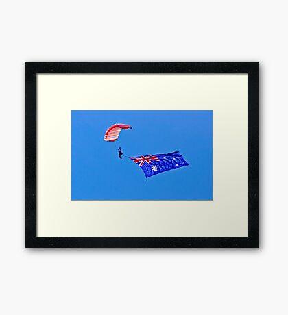 Flag Under Canopy - SYDNEY - AUSTRALIA Framed Print
