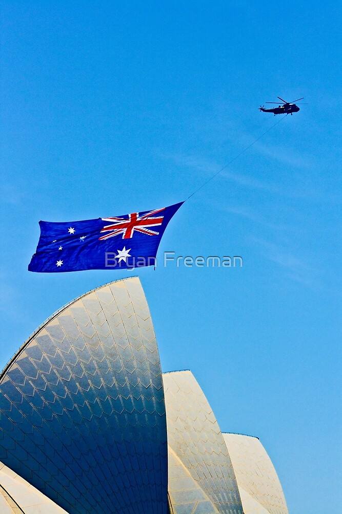 Australia Day Sails - Sydney Opera House by Bryan Freeman