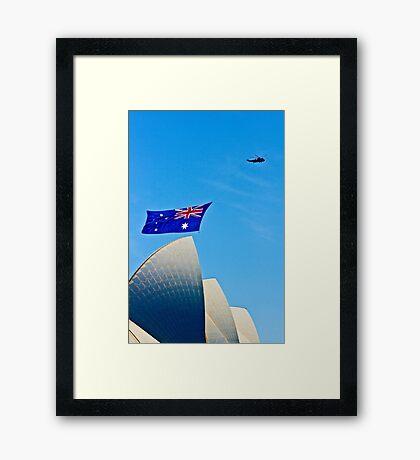 Australia Day Sails - Sydney Opera House Framed Print