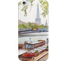 Seine Barges iPhone Case/Skin