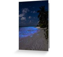 Fluorescent plankton in the Maldives - Indian Ocean Greeting Card