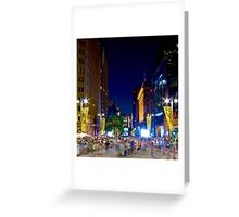 Martin Place - Sydney Festival First Night - Australia Greeting Card