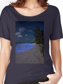 Fluorescent plankton in the Maldives - Indian Ocean Women's Relaxed Fit T-Shirt