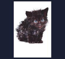 Black wet kitten Kids Clothes
