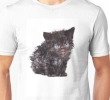 Black wet kitten Unisex T-Shirt
