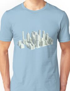 Rendered city Unisex T-Shirt