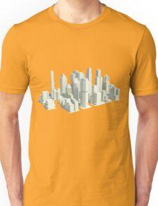 Rendered city Unisex T-Shirt