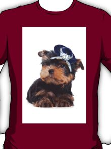 Yorkshire Terrier puppy in the hat T-Shirt