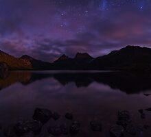Moonlit Cradle - Cradle Mountain Tasmania by Mark Shean