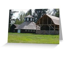 Octagonal Dairy Barn, Fintry Provincial Park. Greeting Card