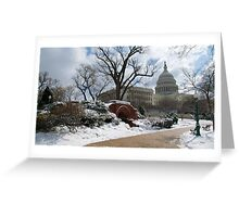 Snow-Lined Path to the Capitol Greeting Card