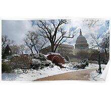 Snow-Lined Path to the Capitol Poster