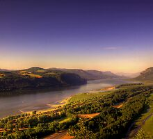 """""""Gorge""""ous Glow  - Columbia River Gorge by John Absher"""