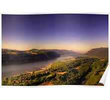 """""""Gorge""""ous Glow  - Columbia River Gorge Poster"""