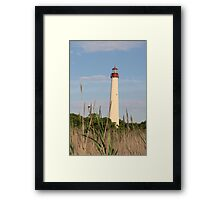 Cape May Lighthouse through the Reeds Framed Print