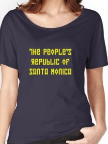 The People's Republic of Santa Monica (dark shirts) Women's Relaxed Fit T-Shirt