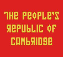 The People's Republic of Cambridge (yellow letters) by diculousdesigns