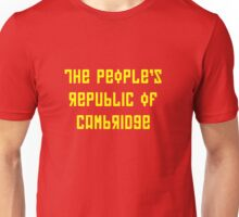 The People's Republic of Cambridge (yellow letters) Unisex T-Shirt