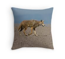 Lonesome Coyote Throw Pillow