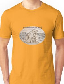 Polar Bears with a request Unisex T-Shirt
