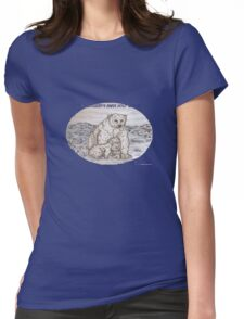 Polar Bears with a request Womens Fitted T-Shirt