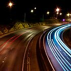 Freeway lights by Mike Turner