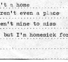Homesick by Anna Kellner