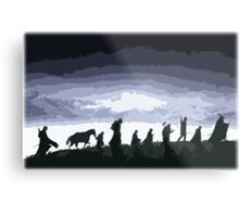 Fellowship of the Ring Cutout Print Design Metal Print
