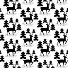 Deer In The Forest Pattern by KarinBijlsma