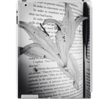 Dead flowers pressed into book  iPad Case/Skin