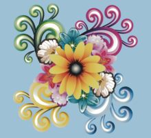 Sunny colorful sunflower  Kids Clothes