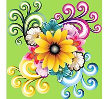 Sunny colorful sunflower  Photographic Print