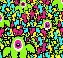 Neon Mutant Owls by XOOXOO