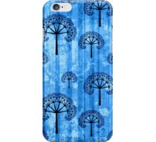 Ice Blue Abstract Pattern iPhone Case/Skin