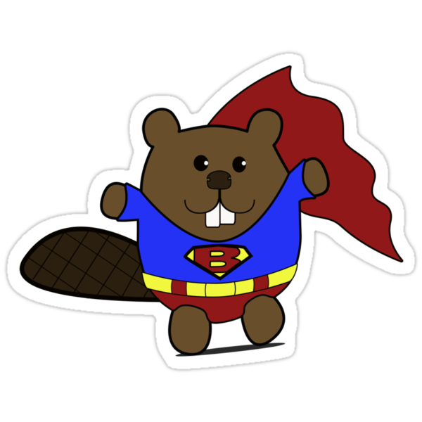 Is it a bird.. .no it's Super Beaver! by Pip Gerard