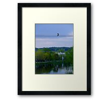 ...living in a big world... Framed Print