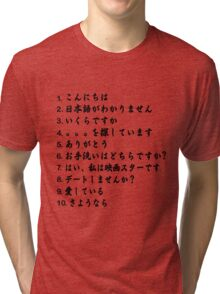 10 Things to Say in Japan Tri-blend T-Shirt