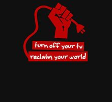 Turn Off Your TV (Red) Unisex T-Shirt