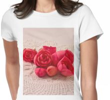Pink Begonia Buds Womens Fitted T-Shirt