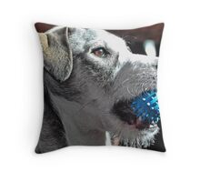 Playing Fetch With Emma Throw Pillow