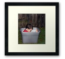 Creative play... Framed Print
