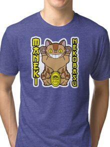 Maneki Neko-basu Tri-blend T-Shirt