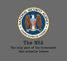 The NSA (The Only Part of the Government That Actually Listens) by tinaodarby