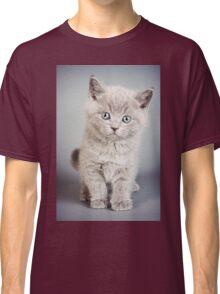 cute fluffy grey kitten Classic T-Shirt