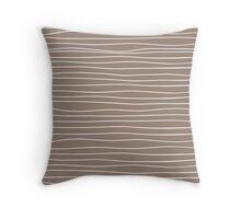 Field - Brown Throw Pillow